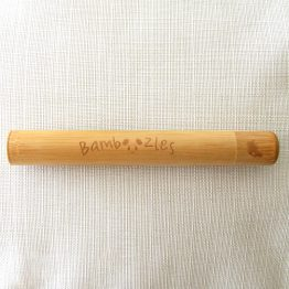 Bamboo Travel Case for toothbrushes